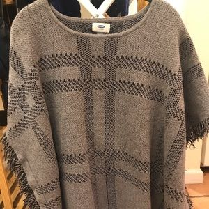 Comfy sweater poncho